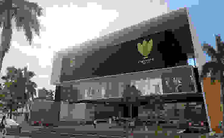 Fachada Centro Comercial Centros comerciales de estilo moderno de Arquitectos M253 Moderno