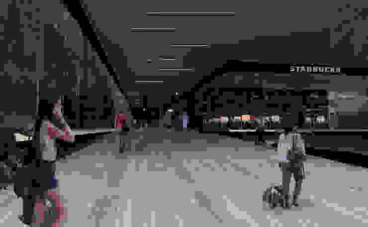 Centro Comercial en Cuernavaca Centros comerciales de estilo moderno de Arquitectos M253 Moderno