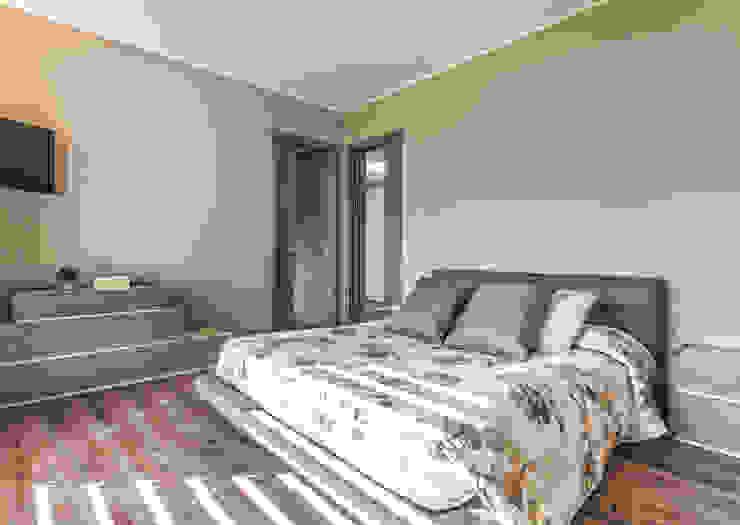 Progettazione e realizzazione villa moderna Camera da letto moderna di Arch. Paolo Bussi Moderno