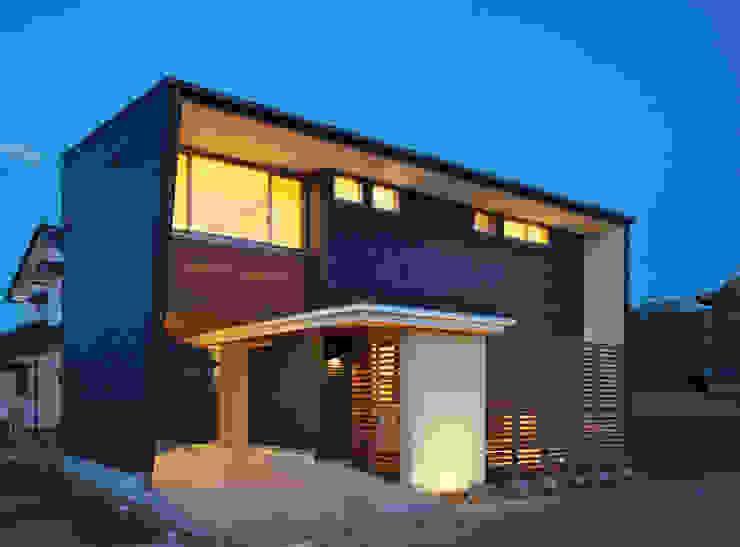 Eclectische huizen van かんばら設計室 Eclectisch Steen
