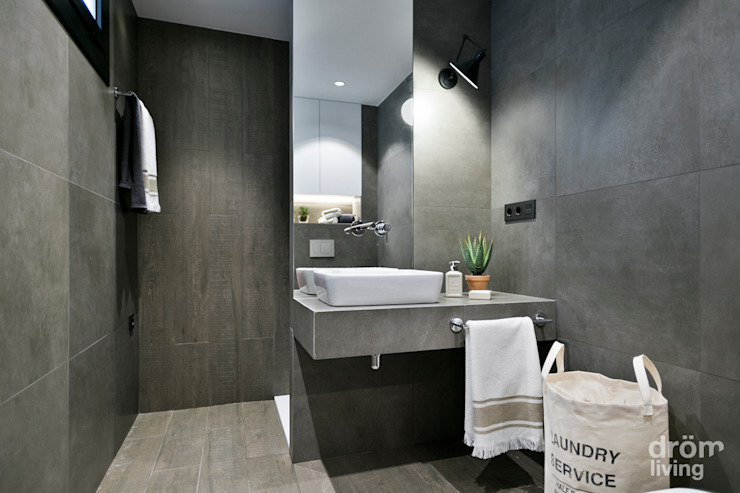 Industrial style bathroom by Dröm Living Industrial
