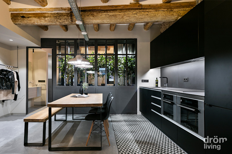 Industrial style kitchen by Dröm Living Industrial