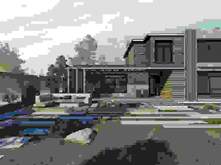 фасад Дома в стиле модерн от ASTRO-GROUP Модерн