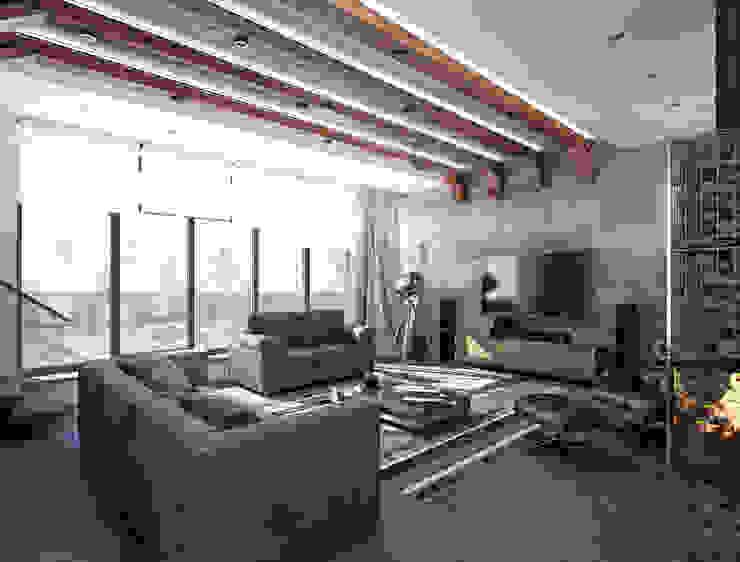 Жилой Дом Гостиная в стиле модерн от ASTRO-GROUP Модерн