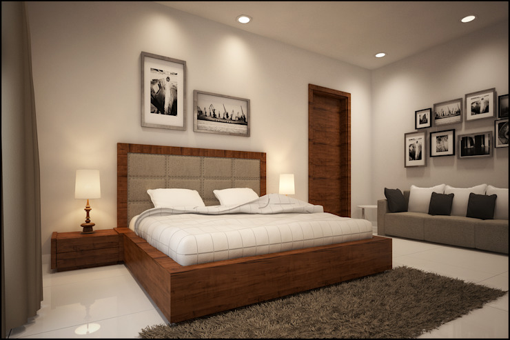 Interior and Exterior Project Modern style bedroom by Pixel Works Modern