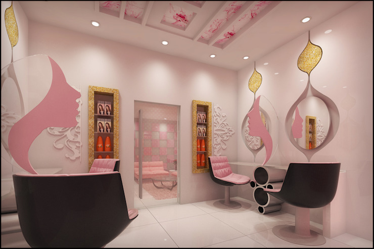 Beauty Parlour Modern dressing room by Pixel Works Modern