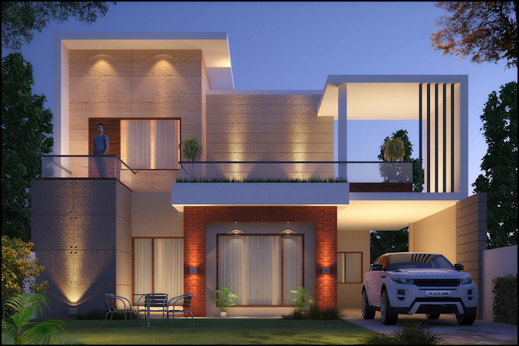 Mr. Goyal Modern houses by Pixel Works Modern