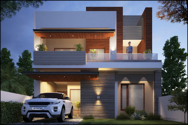 Mr. Goyal Modern houses by Pixel Works Modern