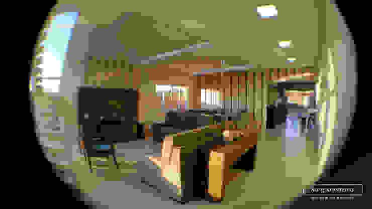 Sala de estar e jantar integradas Salas de estar modernas por Monteiro arquitetura e interiores Moderno