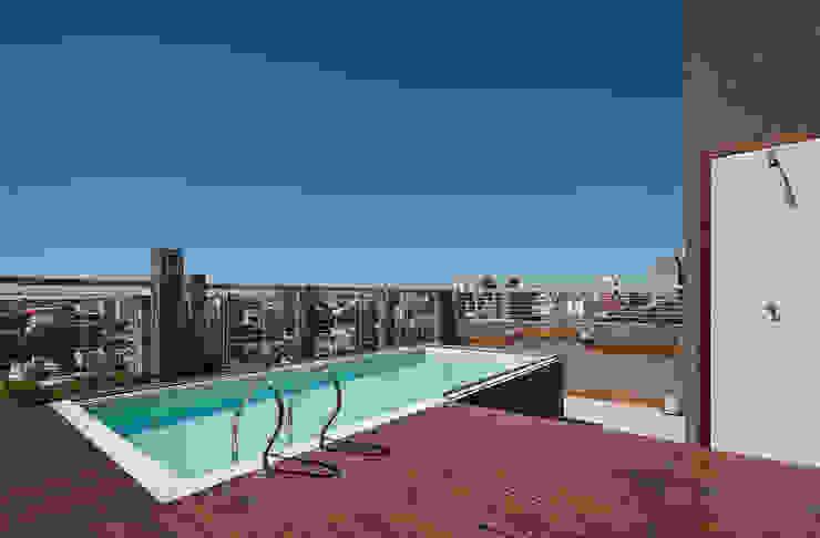 Amenites (Terraza Pileta) Piletas modernas: Ideas, imágenes y decoración de Arcadia Arquitectura Moderno