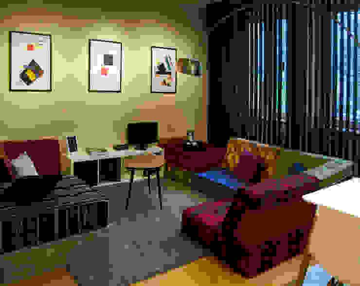 Decoración interior de vivienda en Berlín Гостиная в стиле модерн от garcia navalon arquitecto Модерн