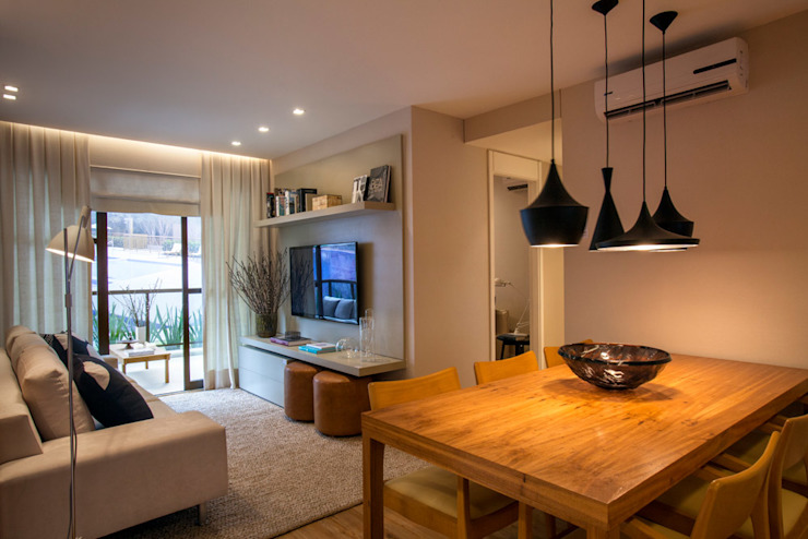 Apartamento decorado RJZ - Comedores de estilo moderno de Gisele Taranto Arquitetura Moderno