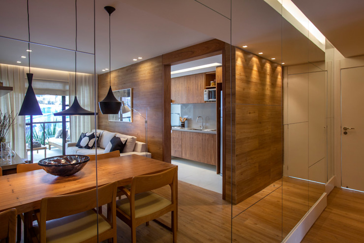 Apartamento decorado RJZ - Ruang Makan Modern Oleh Gisele Taranto Arquitetura Modern