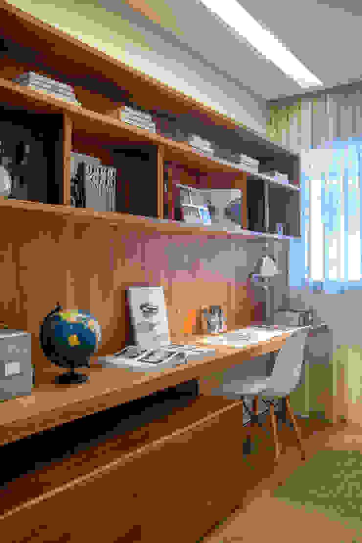 Apartamento decorado RJZ - Gisele Taranto Arquitetura Salas de estar modernas