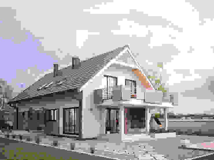 Wizualizacja projektu domu Amarylis 3 Nowoczesne domy od Biuro Projektów MTM Styl - domywstylu.pl Nowoczesny