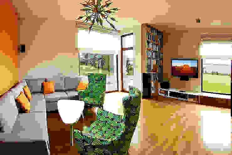 Ruang Keluarga Modern Oleh Biuro Projektów MTM Styl - domywstylu.pl Modern