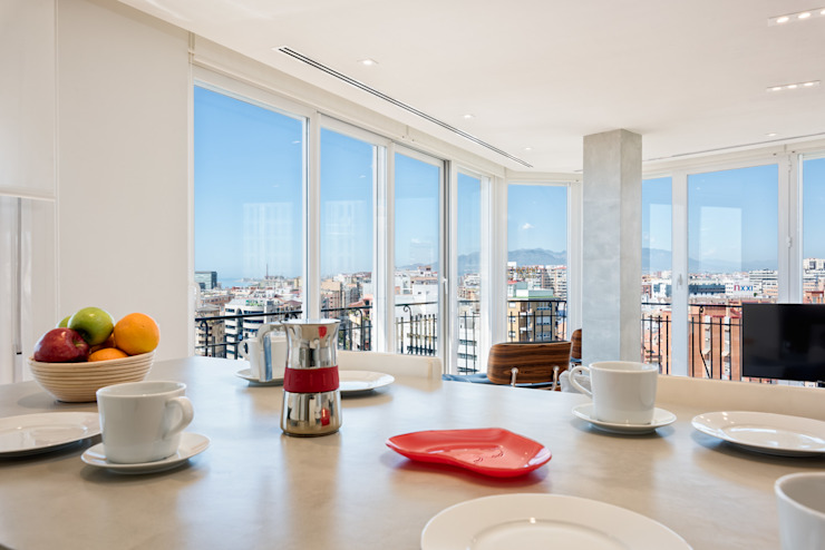 Cocinas de estilo moderno de Espacios y Luz Fotografía Moderno