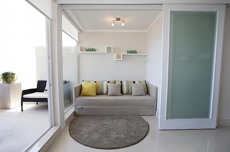 Terraza Pacifico 2 dormitorios de VdecoracionesCL Moderno