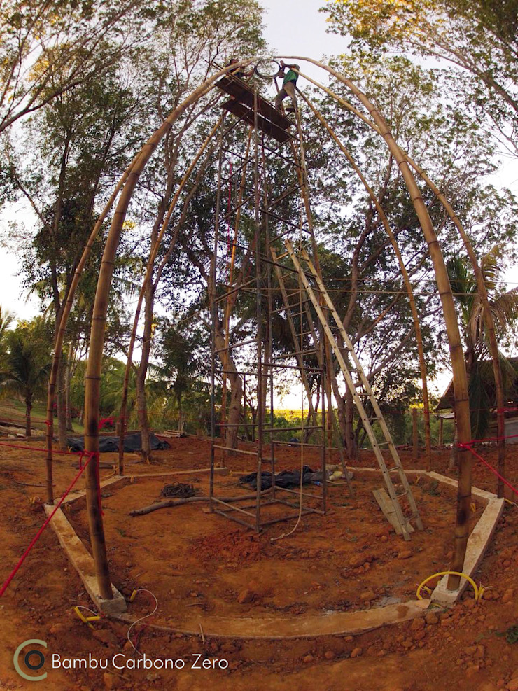 BAMBU CARBONO ZERO Rustic style garden Bamboo Wood effect