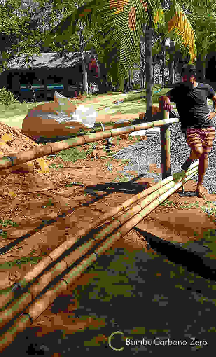 Rustikaler Garten von BAMBU CARBONO ZERO Rustikal Bambus Grün