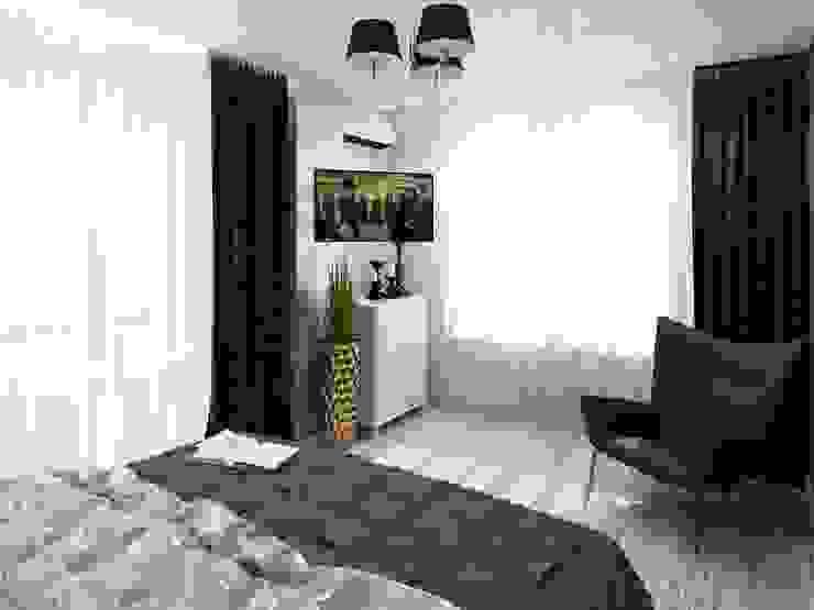 ДизайнМастер Eclectic style bedroom Grey