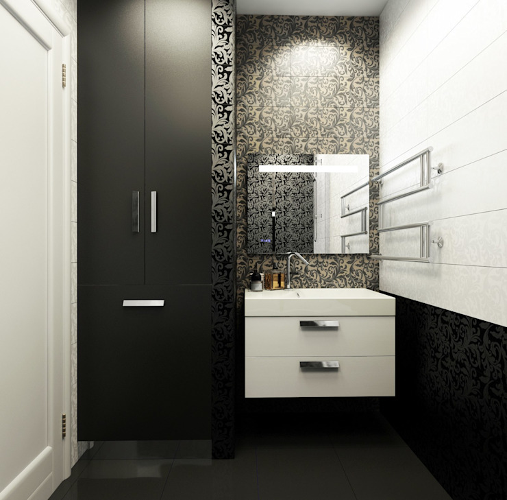ДизайнМастер Eclectic style bathroom Black