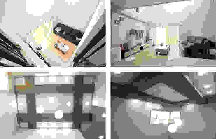 모던함 속에 고급스러움을 간직한 전원주택[충남 천안] 모던스타일 거실 by 지성하우징 모던