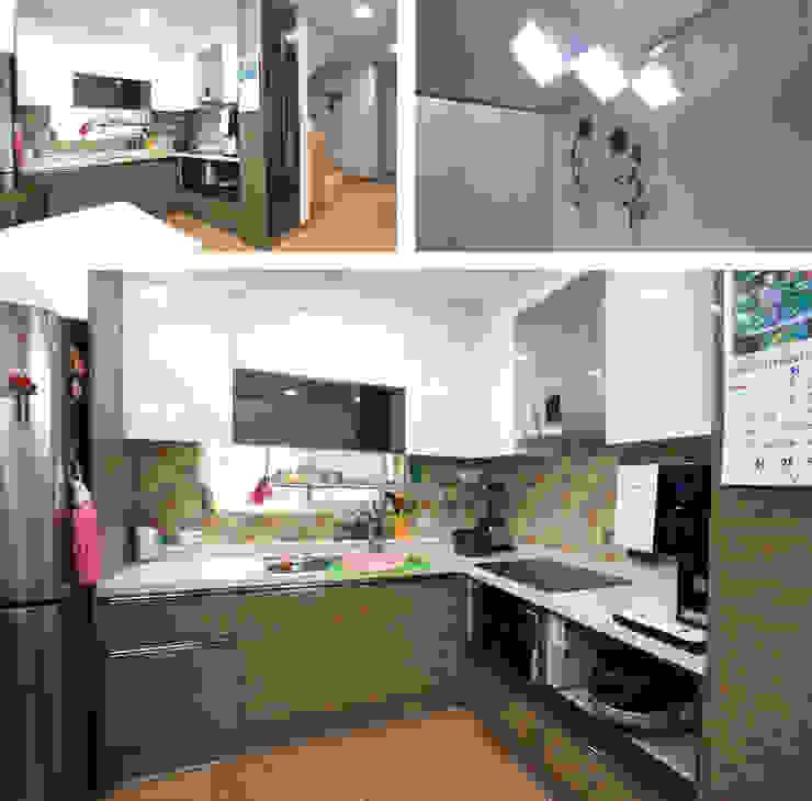 모던함 속에 고급스러움을 간직한 전원주택[충남 천안] 모던스타일 주방 by 지성하우징 모던