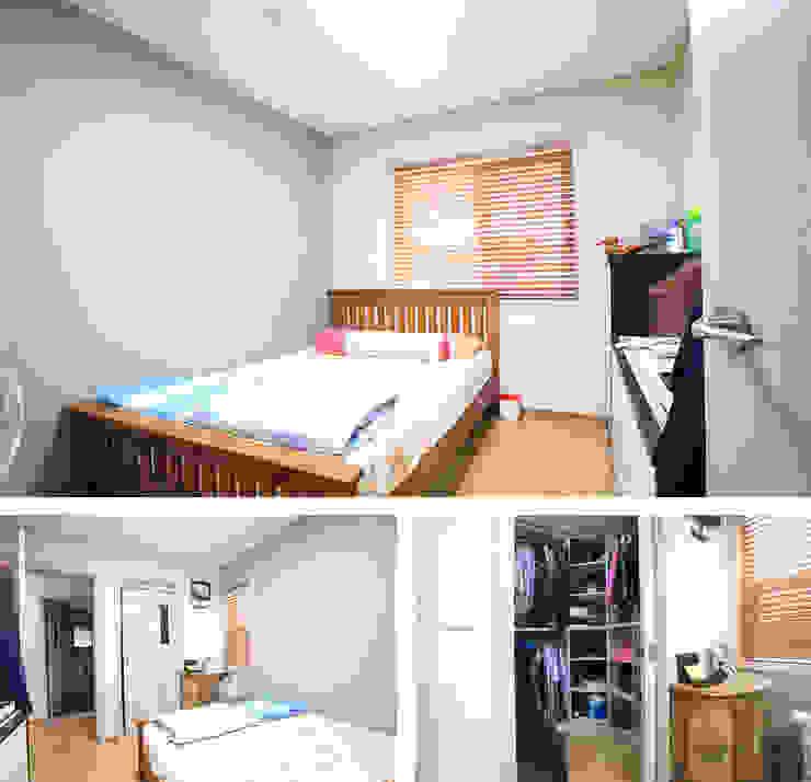 모던함 속에 고급스러움을 간직한 전원주택[충남 천안] 모던스타일 침실 by 지성하우징 모던