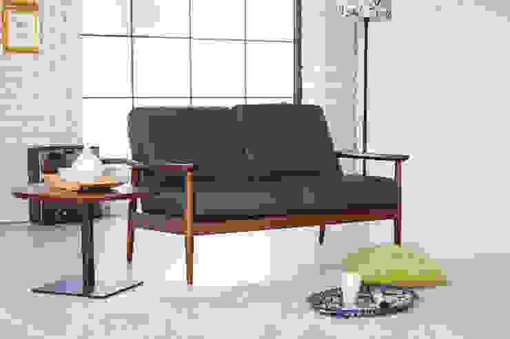 Robin L 2.0 Sofa: Mobel-Carpenter 모벨카펜터의 미니멀리스트 ,미니멀 가죽 그레이
