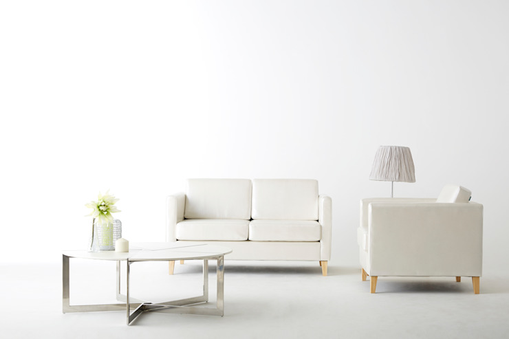 30 Basic L 2.0 Sofa: Mobel-Carpenter 모벨카펜터의 미니멀리스트 ,미니멀 합성 갈색