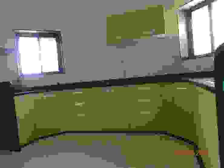 aashita modular kitchen Cuisine scandinave Plastique Vert