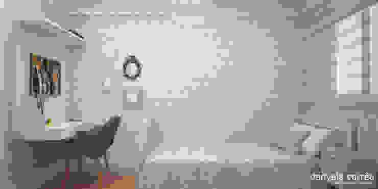 3D - Suíte Danyela Corrêa Arquitetura Quartos clássicos Madeira Azul