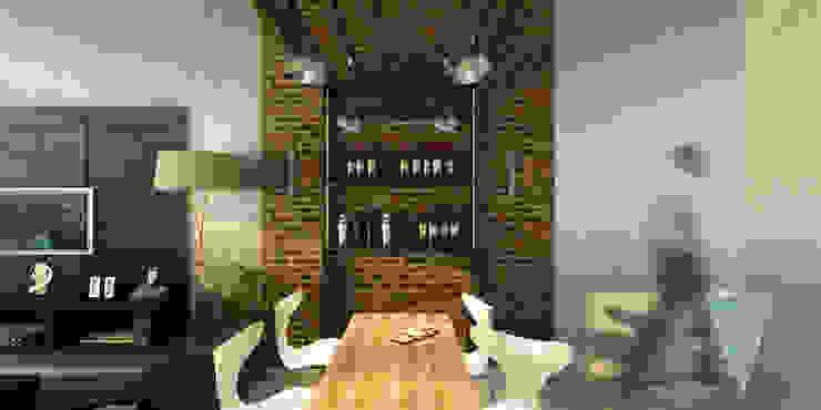 Modern dining room by JUNE arquitectos Modern Wood Wood effect