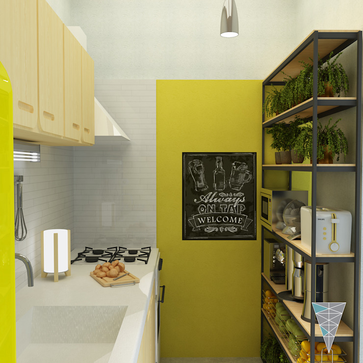 Modern style kitchen by JUNE arquitectos Modern Tiles