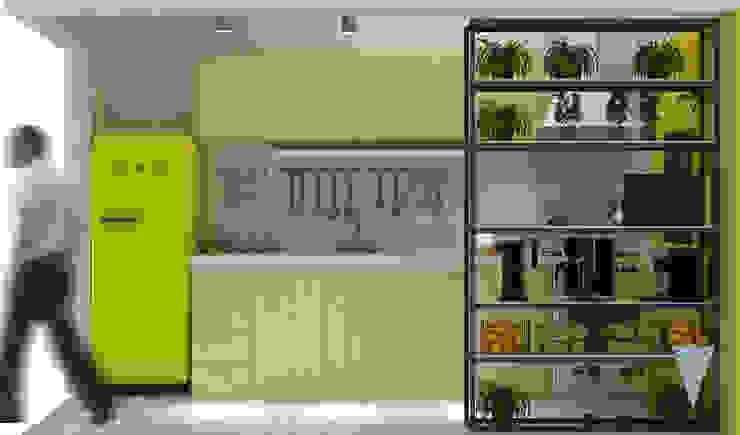 Modern style kitchen by JUNE arquitectos Modern Chipboard
