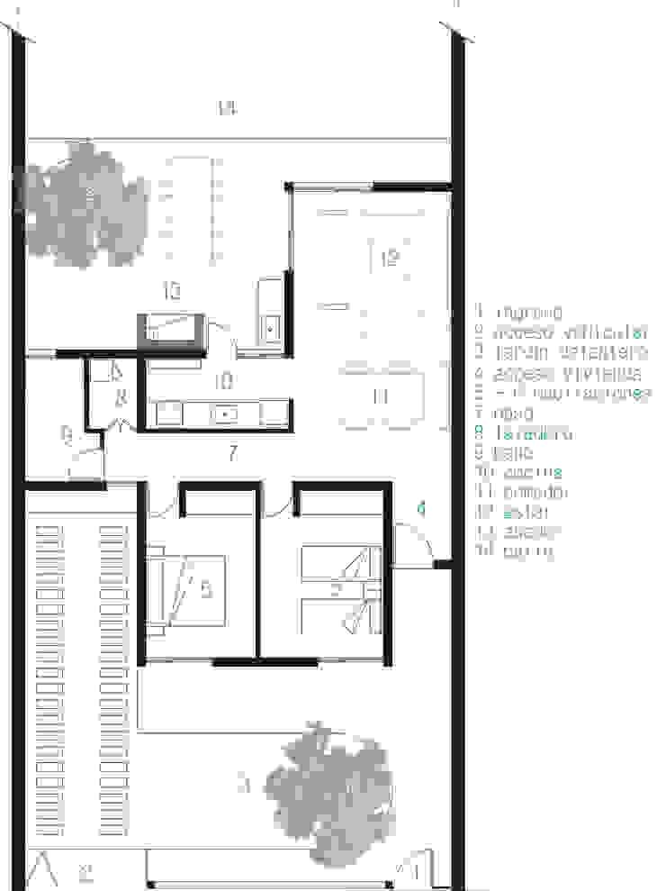 Modern houses by JUNE arquitectos Modern