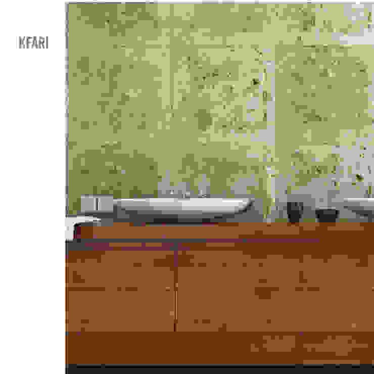 Minimalist corridor, hallway & stairs by MAGEN | Revestimentos Cimentícios Minimalist Concrete