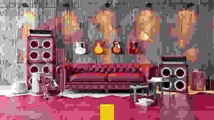 Gibson Guitarist Room / In Memory of Gary Moore Penintdesign İç Mimarlık Endüstriyel Çalışma Odası
