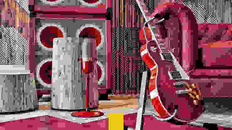 Gibson Guitarist Room / In Memory of Gary Moore Endüstriyel Çalışma Odası Penintdesign İç Mimarlık Endüstriyel