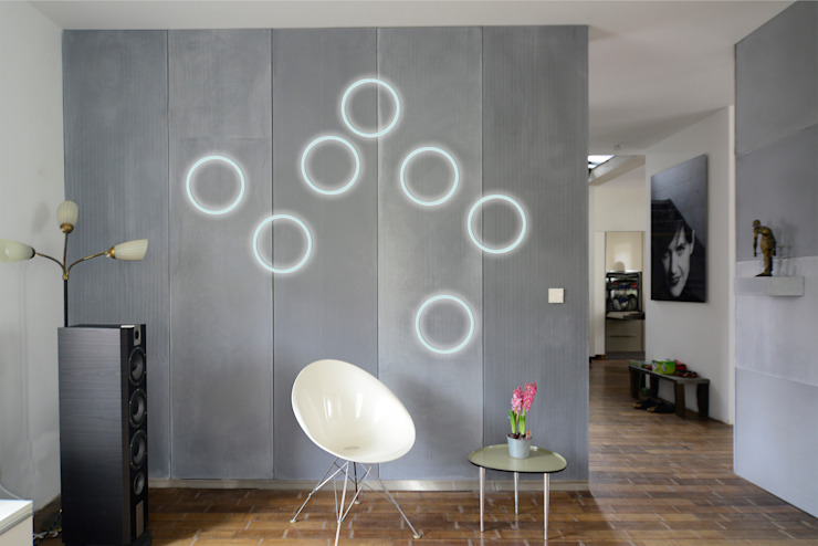 Paredes y pisos de estilo moderno de betondesign-factory Moderno Concreto