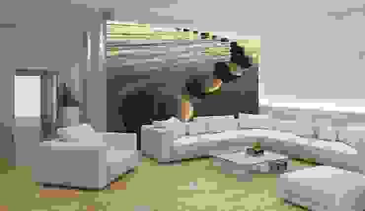 Papel de parede Wallpaper www.intense-mobiliario.com http://intense-mobiliario.com/pt/fotomurais/8094-fotomural-kamienie-na-wozdie.html por Intense mobiliário e interiores; Moderno