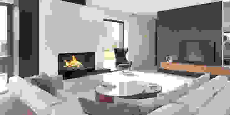 Livings modernos: Ideas, imágenes y decoración de HomeKONCEPT | Projekty Domów Nowoczesnych Moderno