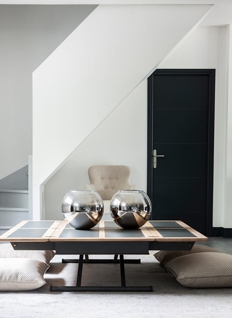 Grange México Living roomSide tables & trays Solid Wood Black