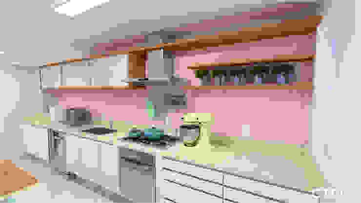 Cozinha Candy Colors Cozinhas modernas por CTRL   arquitetura e design Moderno