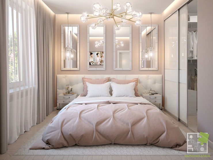 Нежная спальня Спальня в эклектичном стиле от Елена Марченко (Киев) Эклектичный