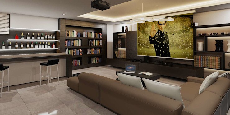 Modern media room by VERO CONCEPT MİMARLIK Modern
