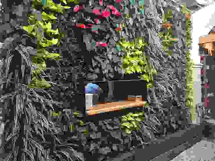 Jardín Vertical en Bar Pelayo Jardines de estilo rústico de Terapia Urbana, Diseño de jardines verticales Rústico