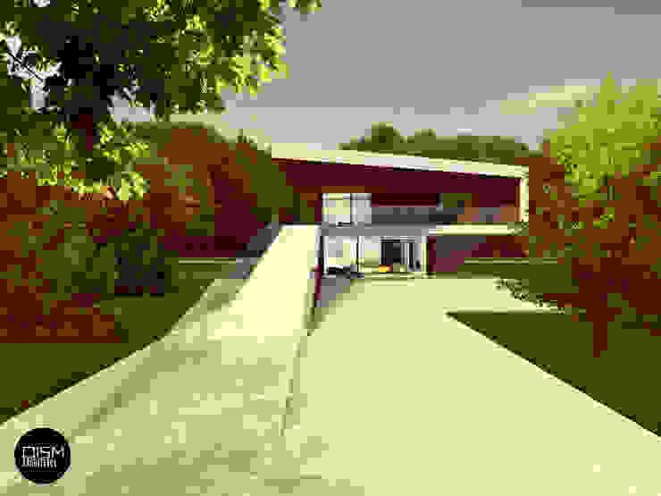 Dom na przestrzał Nowoczesne domy od DISM Architekci Nowoczesny