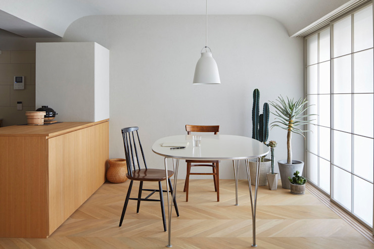 Dining room by aoydesign 株式会社アオイデザイン, Rustic